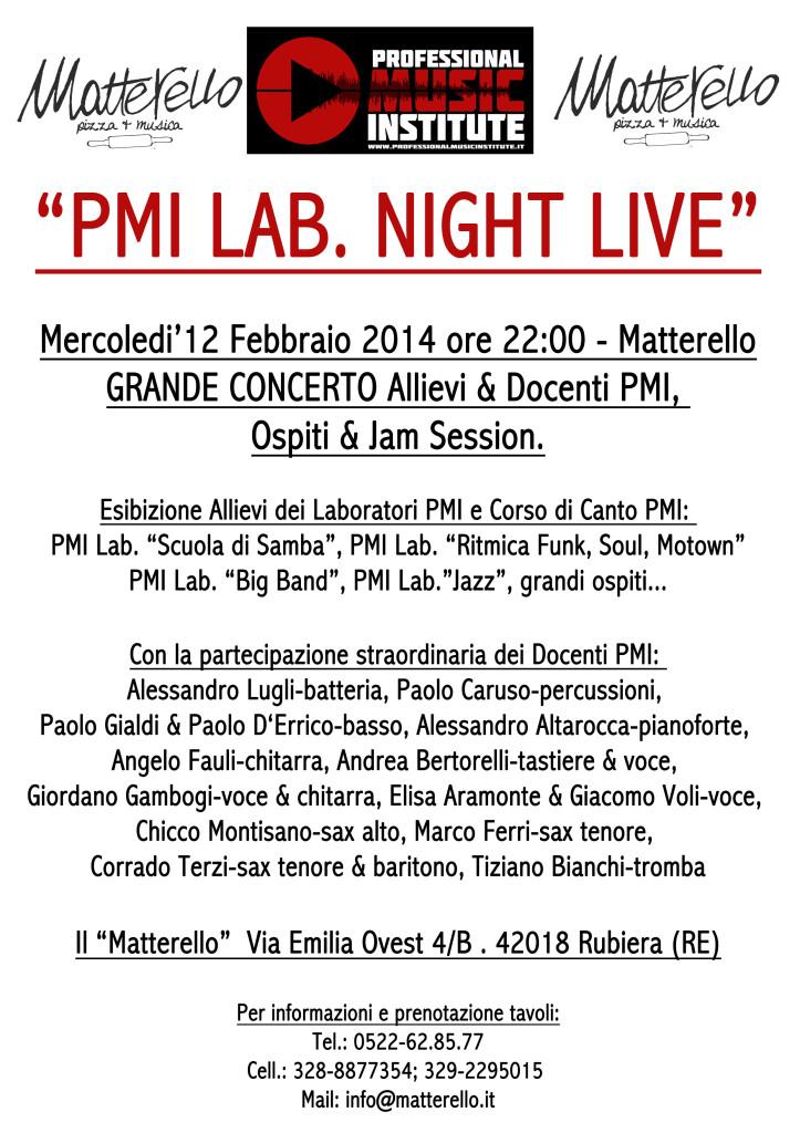 PMI LIVE IN JACK Mattarello 12 febbraio 2014 -
