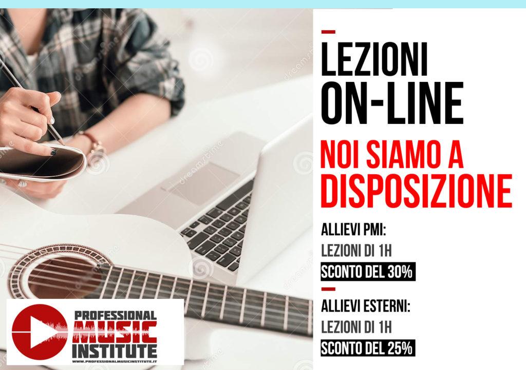 PMI - LEZIONI ON LINE NOI SIAMO A DISPOSIZIONE  #noisiamoadisposizione #lezionionline #ProfessionalMusicInstitute
